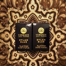Lot of 2 VERSACE Pour Homme Dylan Blue EDT Men's Cologne 0.17 oz / 5ml EACH NIB