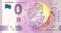 BILLET 0  EURO CHARLES X ROI DE FRANCE  2021 NUMERO DIVERS