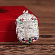 TIBET BLESSED SILVER 10 POWERFUL ELEMENTS LOCKET PENDANT GAU GIFT PRAYER BOX