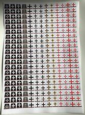 260 Adesivi Personalizzati per TEUTONICS/Cavalieri Templari regni-LEGO Busto Taglia
