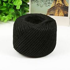 50M Black Jute Twine Ball DIY Wrap Gift Hemp Rope Cord String Ball