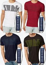 NWT Armani Jeans Graphic Tee Crew Neck Logo T-Shirt