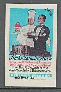 1926 - REICHS GASTWIRTS MESSE - BERLIN -(18)- CHEF- CINDERELLAS