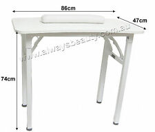 Portable Manicure Table & Hand Cushion Nail Table Mobile Service Sturdy Frame