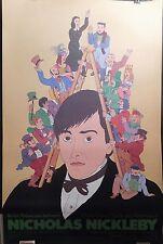 Seymour CHWAST 1982 NICHOLAS NICKLEBY Poster MOBIL Showcase USTINOV Dickens
