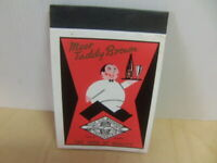 Taddy Ales – brewed by Samuel Smith Ltd Tadcaster unused jotter pad c1950s