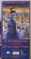 AN OLD FASHIONED TOWN BY DIANE KNUTSON LARGE PIECES PUZZLE