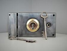 Ancienne Serrure en applique + 2 clés et gâche,Fonctionne,Serrurerie,Lock Door