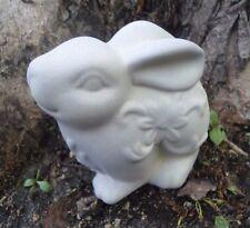 """Latex rabbit mold 4"""" x 3.5"""" x 3"""" plaster cement concrete mould"""