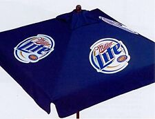 MILLER LITE 9 foot BEER UMBRELLA MARKET PATIO STYLE NEW HUGE