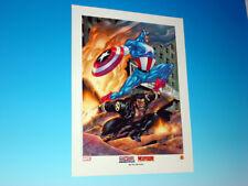 Ultimate Captain America & Wolverine Lithograph Tom Derenick Art Marvel Comics