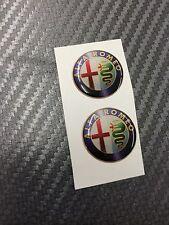 2 Adesivi Stickers ALFA ROMEO Old Color 45 mm 3D resinati auto
