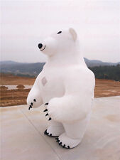 Halloween 2.8m Polar Bear Inflatable Mascot Costume advertising party game dress