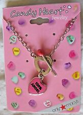 Sweetheart Cupid Necklace New Pink Heart 100% Angel Jewelry Silver Tone Chain