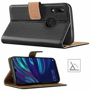 Premium Flip Slim Leather Wallet Case Cover & Stand For Huawei P Smart 2019