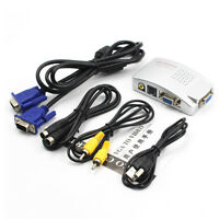 PC VGA to TV Composite Video RGB Converter AV RCA SVideo Adapter Converter BoBE