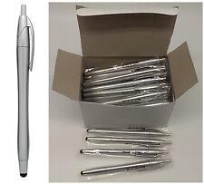 Wholesale Lot 50pcs New Click Pen with front end stylus tip.