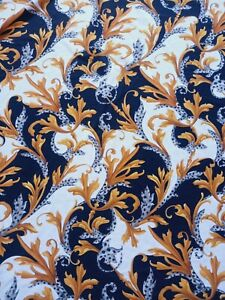 AUTHENTIC DESIGNER MADE IN ITALY PURE VISCOSE JERSEY FABRIC CM 140X140