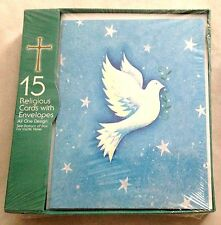 "Religious GREETING ""Imagine Peace"" 4 1/2 X 6"" Cards w Envelopes - Lot of 15"