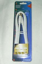 SCHWAIGER qualité allemande câble coaxial RG6-U pour satellite fiche F , 1,5 m