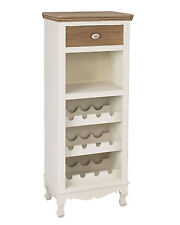Louis White Painted Wine Rack / Cabinet Shabby Chic / Retro / 12 Bottle Capacity