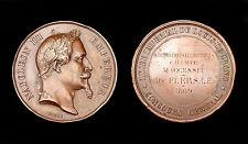Médaille Lycée Impérial Louis-Le Grand 1869. Napoléon III°. Attribuée. Cuivre