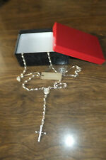 Tweeds Sterling Silver Rosary, New! 12.05g