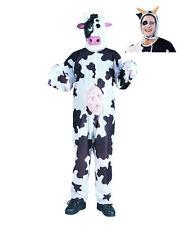 MILK COW ADULT MENS WOMENS COSTUME FARM ANIMAL BLACK WHITE JUMPSUIT MOO ZOO