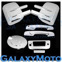 07-13 Silverado+Sierra Chrome Tow Mirror+2 Door Handle+Tailgate+Camera+Gas Cover