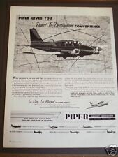 1960 PIPER Aircraft Aztec twin engine airplane photo ad