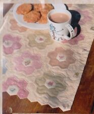 PATTERN - Tea Party Table Runner - EPP PATTERN - Hatched & Patched