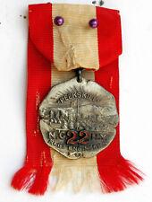 1907 ENAMELED STERLING MEDAL NYNG 22ND REG ENG CAMP PEEKSKILL EVENT DIEGES CLUST