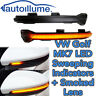 Sweeping Dynamic LED Wing Door mirror indicator light lamp Golf Mk7 GTi R Smoked