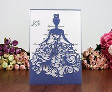100pc Laser Wedding Invitation Cards Handmade Greet Invitations and inner sheet