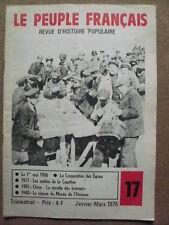 Le Peuple Français n°17/1975 Chine La révolte des BOXEURS/ 1917 mutins  Courtine
