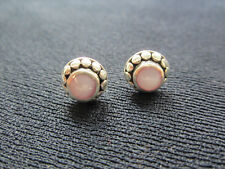 Earrings Pair Pink Opal 10MM Sterling Silver Setting Post New NWT