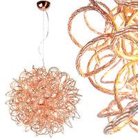 XL Hängelampe Kupfer Design Pendelleuchte Kugel Lampe Rosegold Luxus Deckenlampe