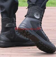 Summer mens training boots military boots mesh breathable casual shoes