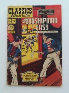 Classics Illustrated #74 - MR. MIDSHIPMAN EASY - HRN  75 GD