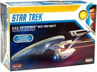 Polar Lights 974 Star Trek II USS Enterprise Refit Wrath of Khan 1:1000 Snap Kit