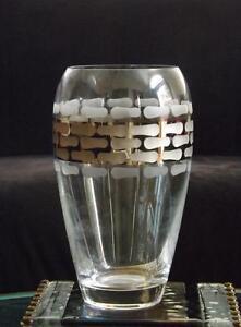 """Michael Wainwright Platinum Glass Truro Vase 9 1/4"""" EXC"""