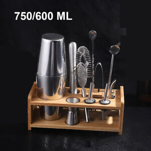 24 Ounce Cocktail Shaker Bar Set with Accessories Martini Kit with Measuring 750