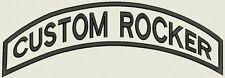 """Top Custom Embroidered Rocker Patch for Biker Motorcycle Badge 12"""" Iron Sew On"""