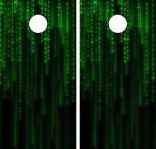 Matrix ReloadedCornhole Board Game Decal Wraps USA High Quality Image! LAMINATED