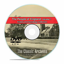 England Vol 1, People Cities Towns, History and Genealogy 215 Books DVD CD B31