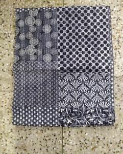 Indian Handmade Vintage Kantha Quilt Throw Ralli Gudri Cotton Bedspread Decor