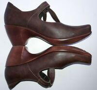 ($179) Naot Pleasure Women's Brown Leather Shoes Mary Jane Size 40 EU / 9-9.5 US