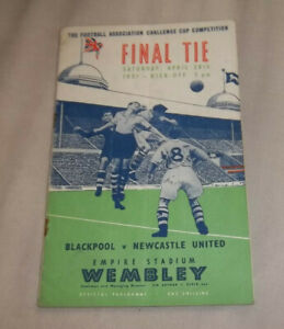 1951 FA Cup Final  Blackpool v Newcastle United Programme ORIGINAL
