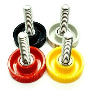 6mm M6 Knurled Thumb Screws for Clamping multiple lengths and Colors