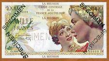 SPECIMEN, Reunion, 1000 Francs, ND (1947), Pick 47 UNC
